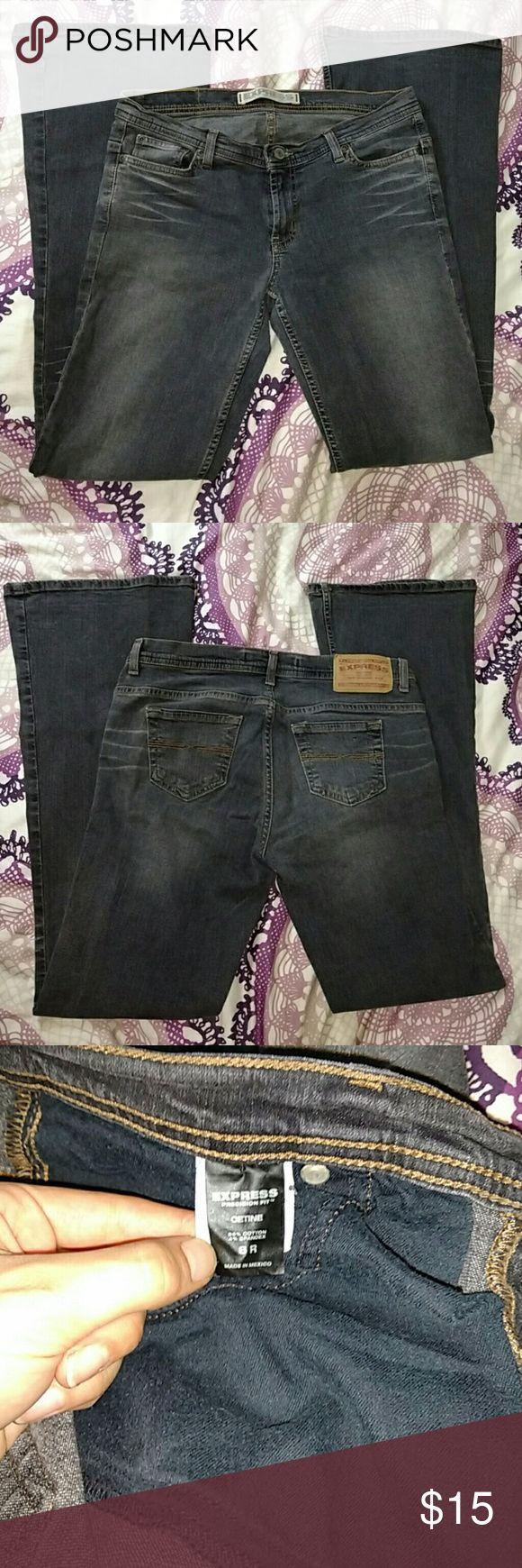 EUC Express Cetine Extreme Bikini Flare 8R Premium copper wash, like new condition! Size 8R Express Jeans Flare & Wide Leg