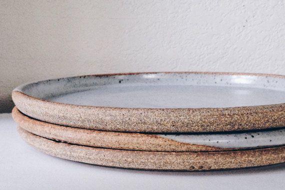 set of minimalist dinner plates wheelthrown & 31 best Minimalist Ceramic Dinnerware images on Pinterest ...