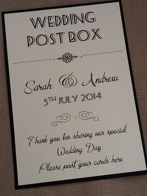 Wedding Post Box Sign - Handmade Personalised on Etsy, £3.75