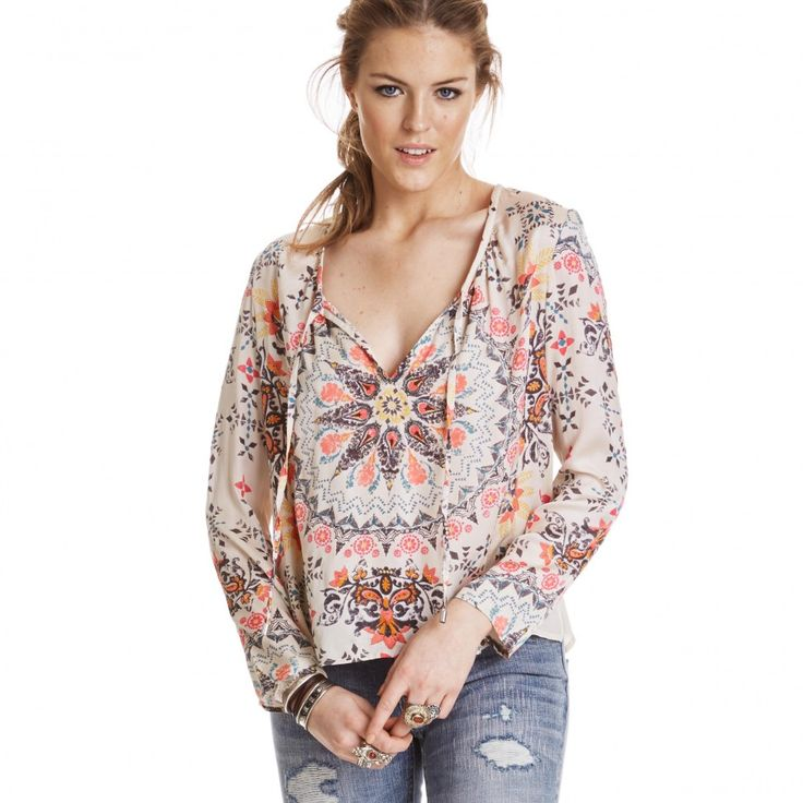 Odd Molly knock-out blouse PINK MULTI