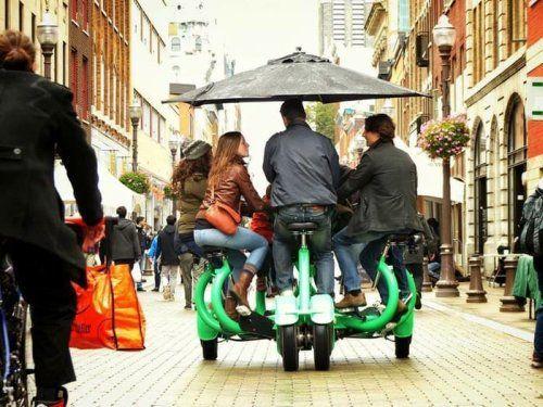 Одним из достаточно необычных новшеств является велосипед ConferenceBike, велосипед, предназначенный для перемещения одновременно семи ездоков. Идея создания велосипеда ConferenceBike (CoBi) родилась у Эрика Сталлера в 1991 году. Изначально этот проект имел название Octos, а такой велосипед предназначался для передвижений сотрудников крупных корпораций или промышленных предприятий в количестве восьми человек, которые во время поездки могут обсудить некоторые деловые вопросы.