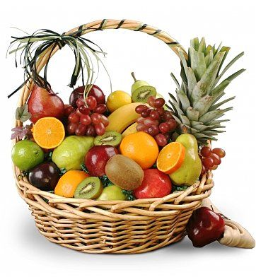 The Orchard Fruit Basket: Fruit Gift Baskets - This hearty fruit basket makes a great impression!
