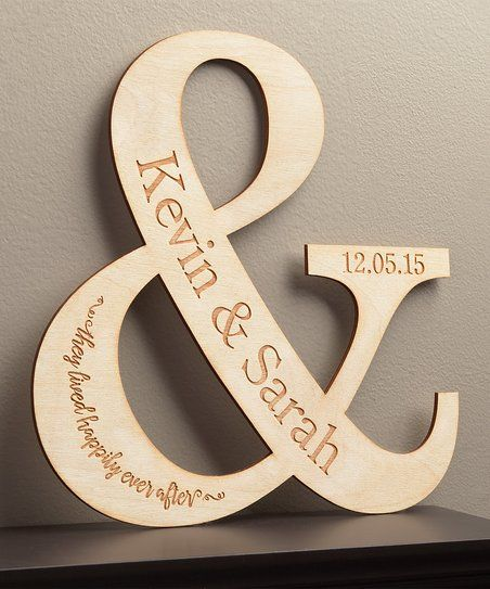 Give home décor an extra-special touch with this attractive personalized plaque that makes an ideal wedding or anniversary gift.  Shipping note: This item will be personalized just for you. Allow extra time for your special find to ship.