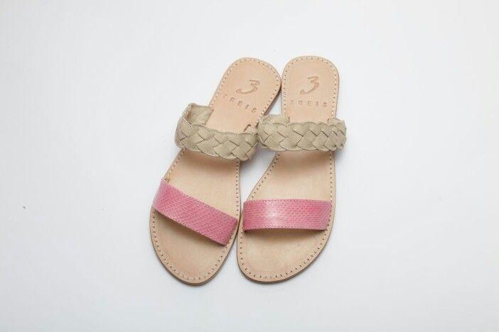 amaryllis pink ( handmade leather sandal )