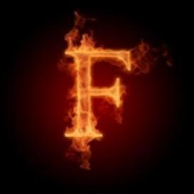 Burning Letter F