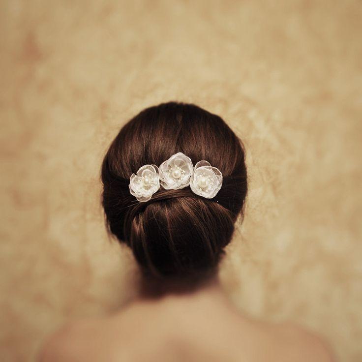 Anne |  Set Of 3 Bridal Hair Pins Flower Hair Pins Wedding Hair Jewelry  Wedding Accessory Bridal Headpiece wedding hair jewelry by RoyalBrides on Etsy
