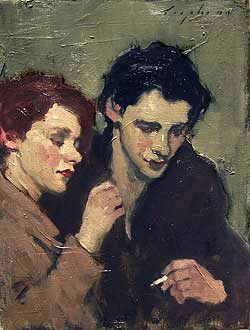 Malcolm Liepke - v cool palette and background