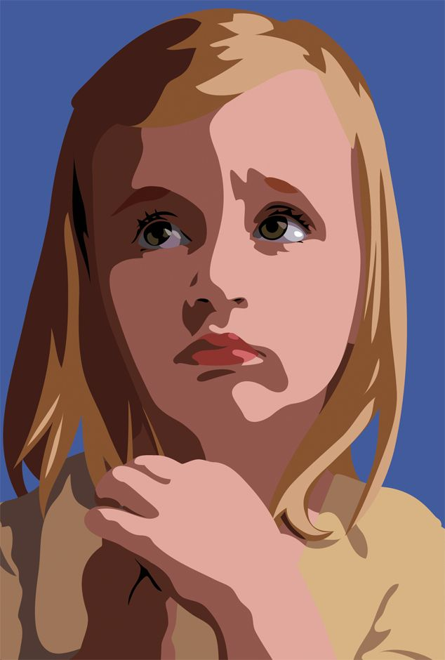 JULIAN OPIE - SISSI LOOKING (3 PORTRAITS) - GALERIE FLUEGEL-RONCAK http://www.widewalls.ch/artwork/julian-opie/sissi-looking-3-portraits/ #print