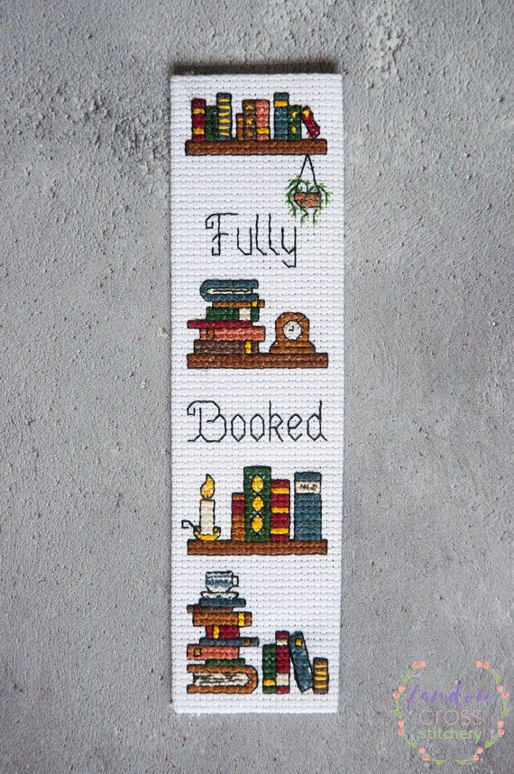 Bookmark Cross Stitch Pdf Pattern Fully Booked Bookmark Cross
