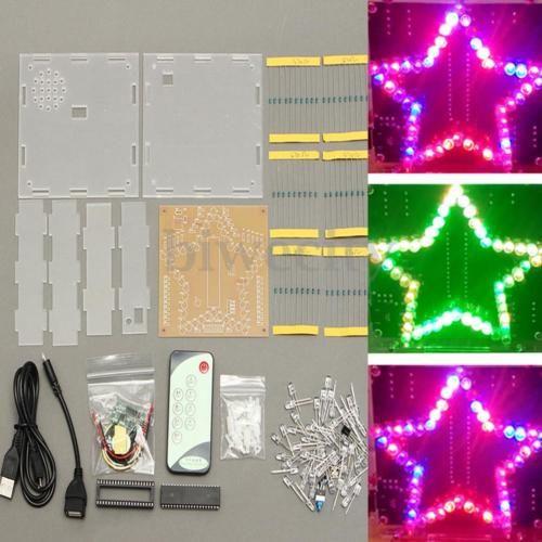 5V-Colorful-Star-Shape-LED-Module-Light-Electronic-Kit-Case-Christmas-Gift-New