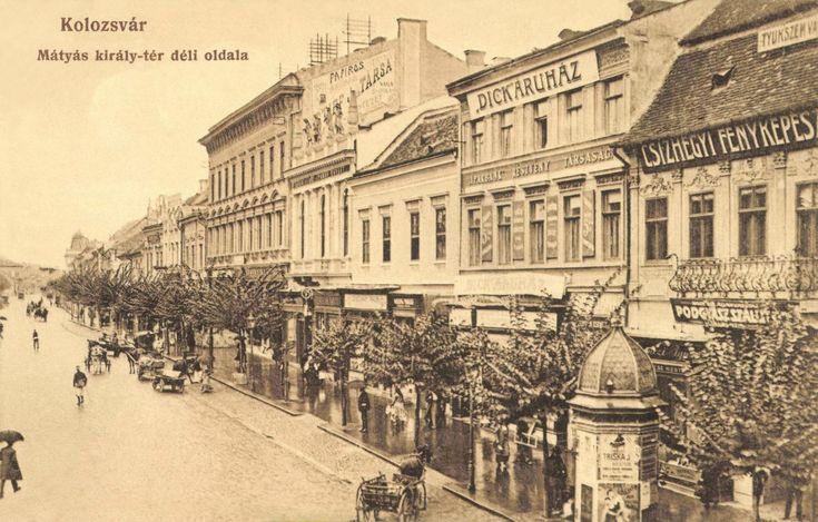 Mátyás király tér:Dick áruház,fényképész,1915.  King Mátyás square.