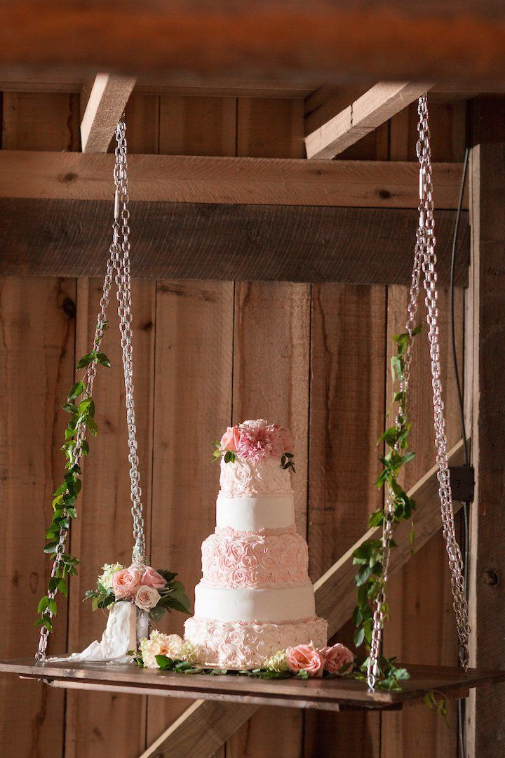 Featured Photographer: Katelyn James, Jillian Michelle Photography, Hannah Teague Photography; Pink wedding cake idea