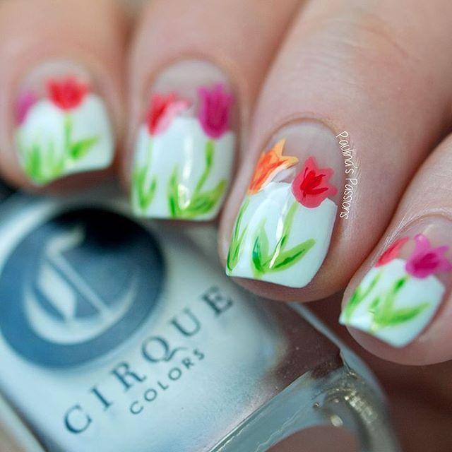 Mejores 334 imágenes de Nail Art: Floral Nails en Pinterest | Arte ...