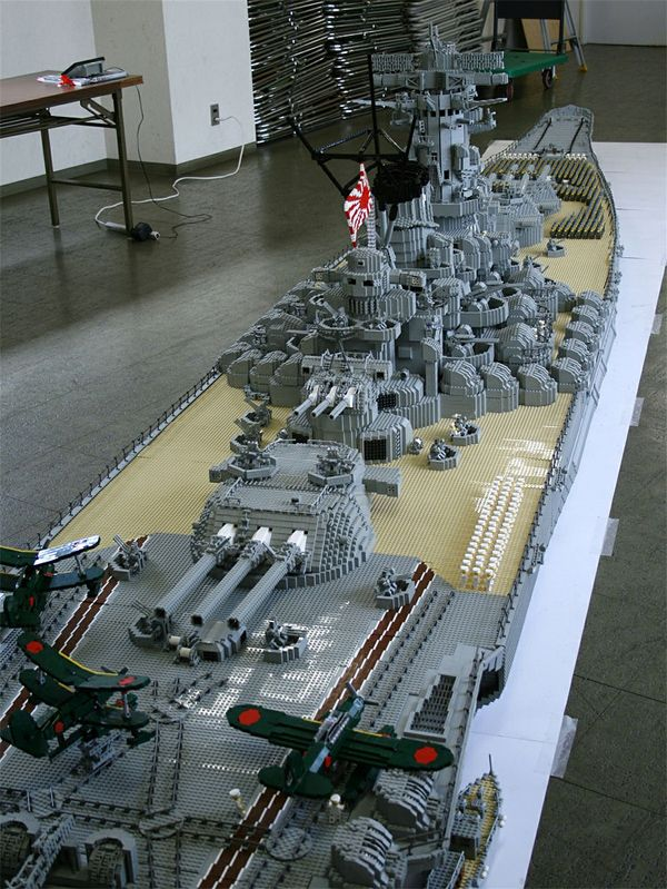 A BEHEMOTH BATTLESHIP MADE OF LEGOS