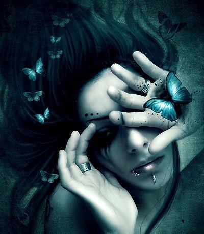 gothic art | Tumblr #goth #butterfly #dark #fantasy