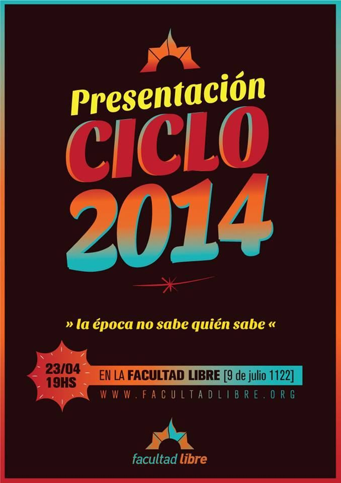 Spot ciclo de actividades 2014 de Facultad Libre de Rosario http://goo.gl/miJNmc  #facultadlibre , #rosario : filosofía , política , sociología , literatura , arte y mucho más.