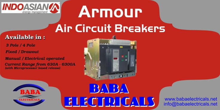 Indo Asian's Armour range of Air Circuit Breakers are high quality products in low voltage switchgear segment with breakthrough performance providing efficient distribution and protection of electrical energy. http://goo.gl/Hkt2h4 #CircuitBreaker #LowVoltage