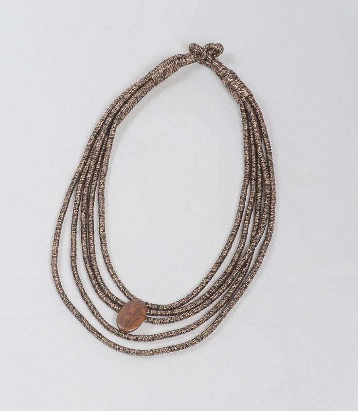 Joy - brown silk necklace from http://stylewise.gr/