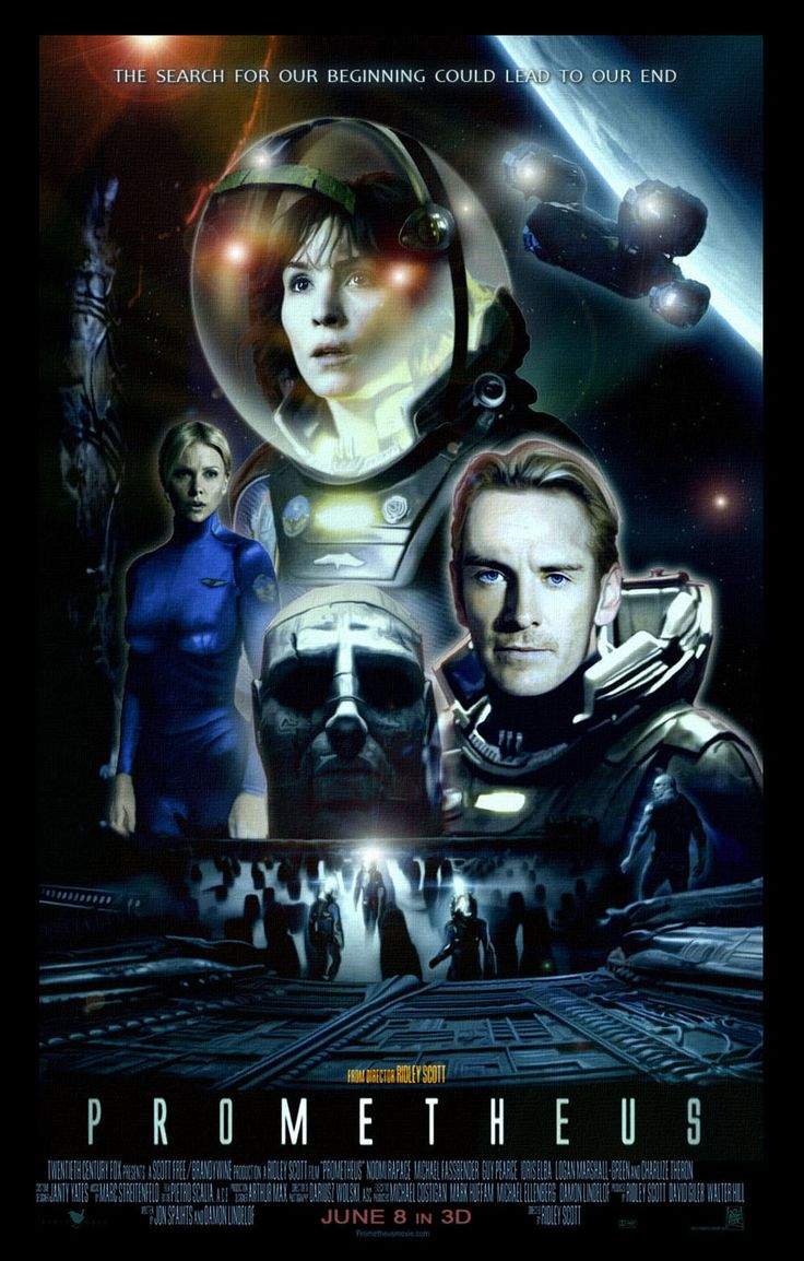 Prometheus Film Poster in the style of Star Wars