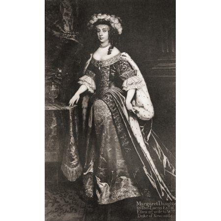 Margaret Cavendish nee Lucas Duchess of Newcastle-upon-Tyne 1623 Canvas Art - Ken Welsh Design Pics (10 x 18)