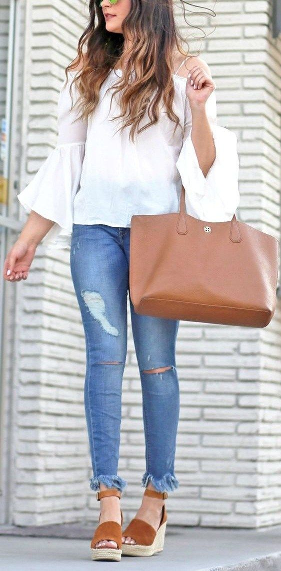 style espadrilles with ripped jeans