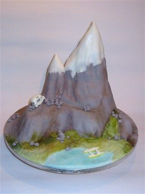 thinking of making it an ice cream cake like this for Taylors birthday mountain cake