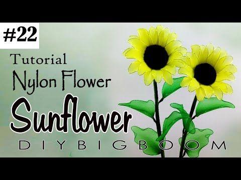 Nylon stocking flowers tutorial 21, How to make nylon stocking flower step by step - YouTube