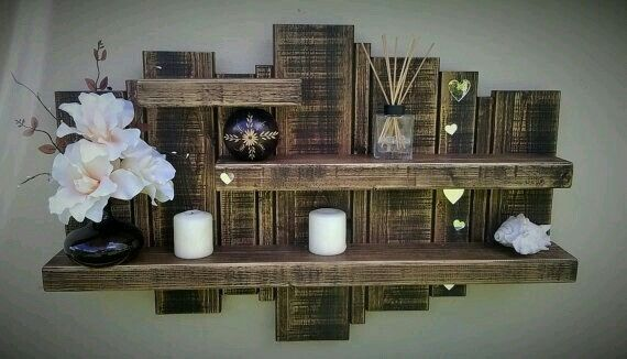 1000+ Ideas About Rustic Wall Shelves On Pinterest