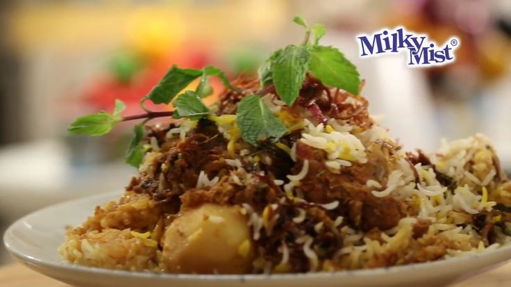 Authentic Dum cooked Muttion Biryani. Try the recipe with milkymist Curd to add more taste. Find the recipe video @ http://bit.ly/2iPyxCt