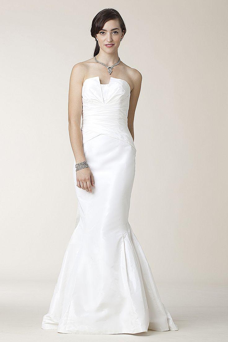 Wedding Dress By Lela Rose See More Silk TaffetaDraped StraplessTrumpet