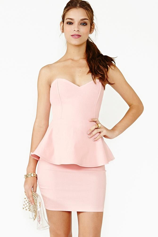 Heart Spark Peplum Dress