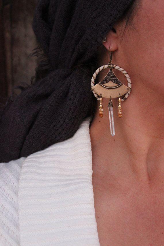 MARBELLA Boho Dangle Earrings Bohemian by WildPeopleFreeSpirit