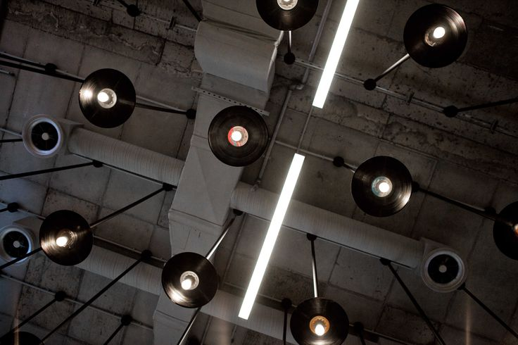 Reload music store @ the mall | eDje architects | athens, Greece | vinyl hanging light