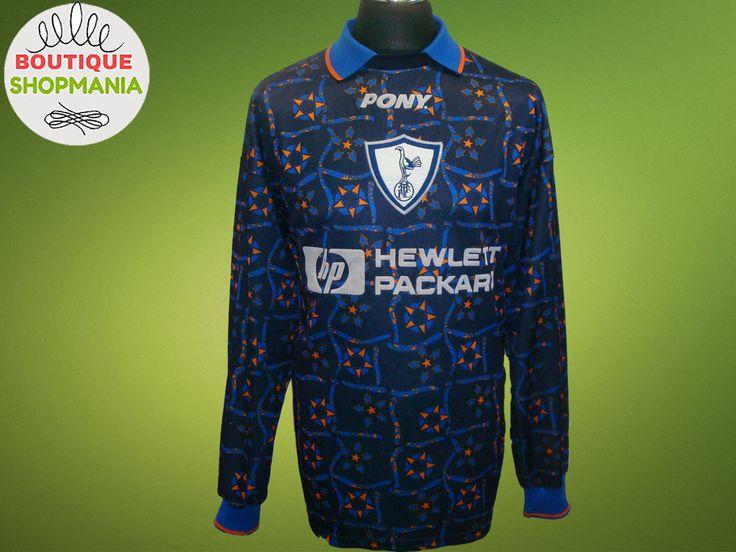 TOTTENHAM HOTSPUR Goalkeeper 1996-1998 (XL) PONY Football Shirt Jersey Camisa  #PONY #TottenhamHotspur
