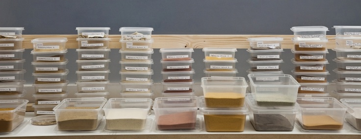 Preparations for the work by AtelierNL based on different soils