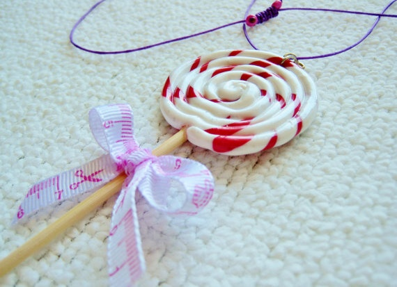 Handmade lollipop necklace