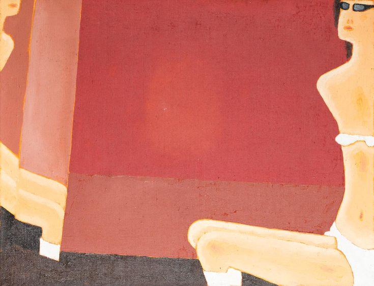 JERZY NOWOSIELSKI (1923 - 2011)  LUSTRO   olej, płótno; / 50x64,5 cm