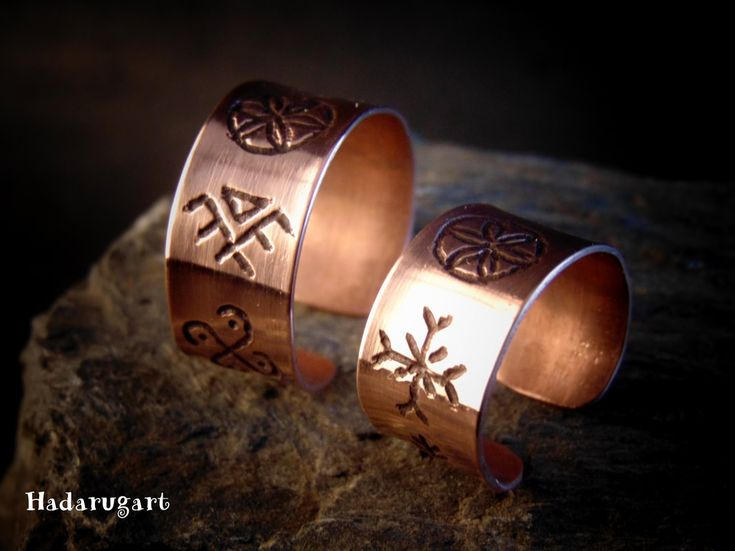Inele cu simboluri dacice - Hadarugart Arta inseamna viata