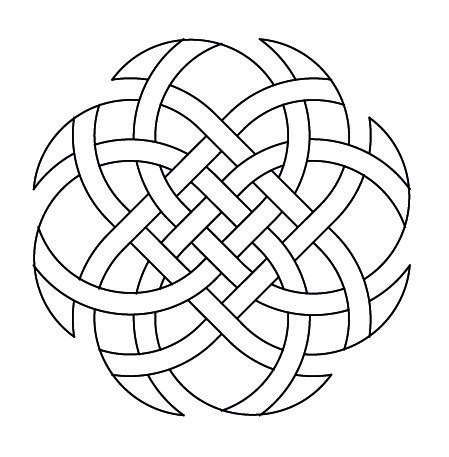 Celtic Knotwork Octagon3 by Peter Mulkers