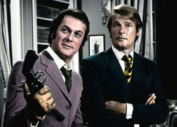 Roger Moore and Tony Curtis in The Persuaders!