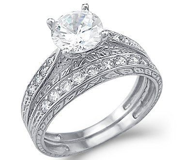 Size- 9.5 - New Solid 14k White Gold CZ Cubic Zirconia Engagement Ring Wedding Band Set Round Cut 1.5 ct Sonia Jewels,http://www.amazon.com/dp/B002DWJAZY/ref=cm_sw_r_pi_dp_3HTIrb3785924393