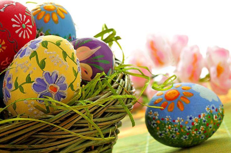 Los huevos pintados es un símbolo de la primavero y de la pascua