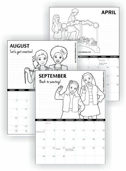 Print free calendars and more for Girl Scouts…
