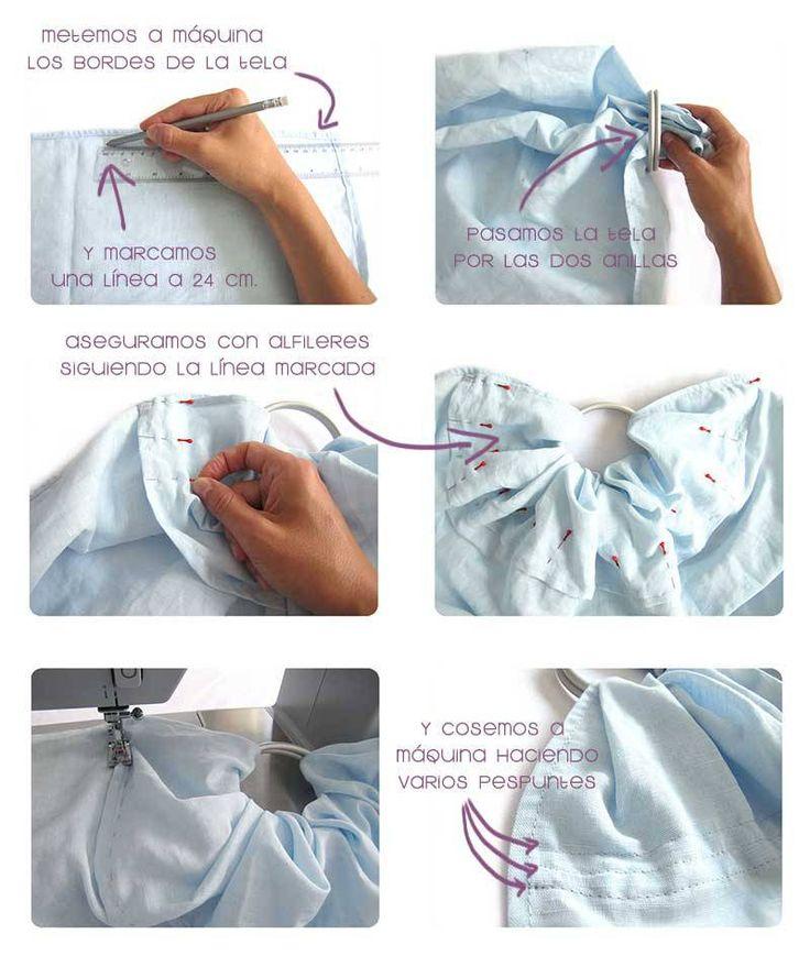 Cómo hacer una bandolera portabebés DIY
