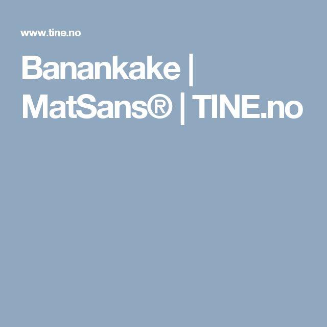 Banankake | MatSans® | TINE.no