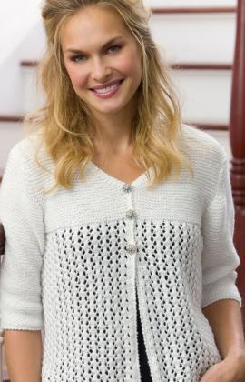 Lace Cardi Knitting Pattern. I made this a while back, but it didn't fit right and undid it. I loved the lace pattern though!