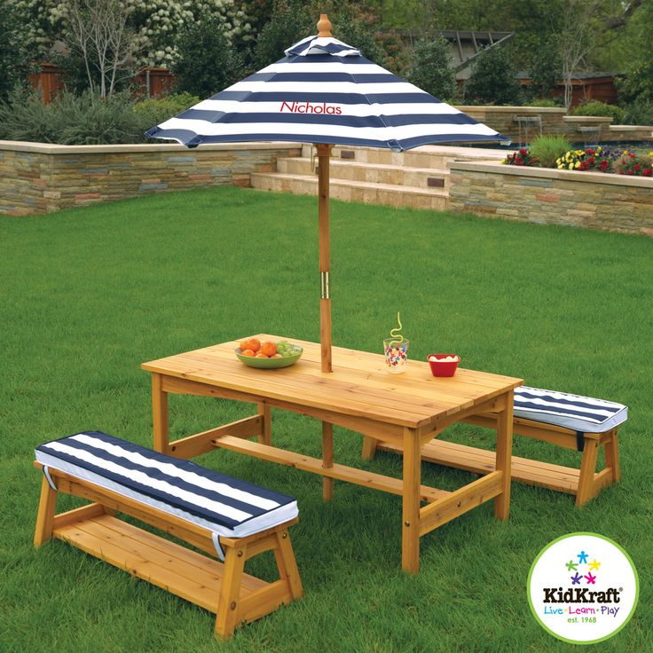 $168.99  KidKraft Outdoor Table and Bench Set - Overstock™ Shopping - The Best Prices on KidKraft Kids' Furniture