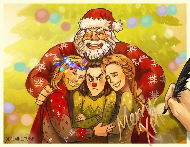 Merry Christmas Loki, Thor, Frigga, and Odin!