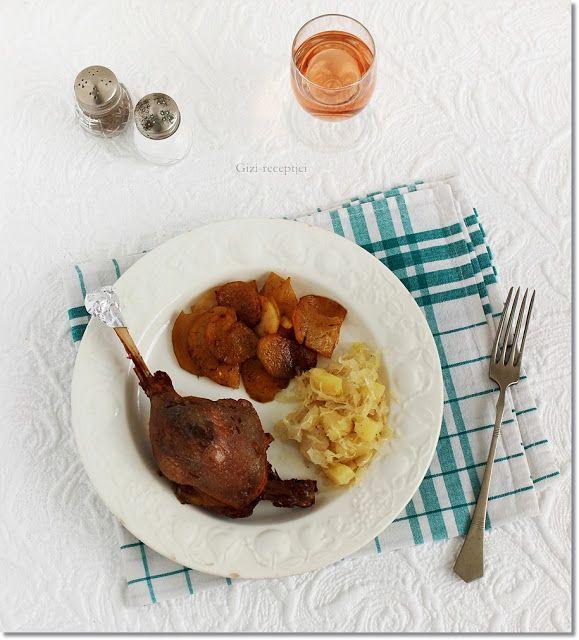Gizi-receptjei.  Várok mindenkit.: Konfitált libacomb zsírjában sült krumplival és an...