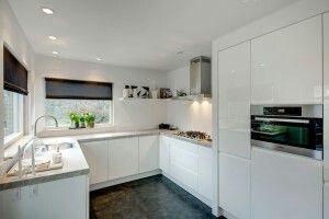 Keuken U vorm wit